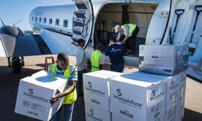 Our DC-3 landed with emergency supplies in Beira, Mozambique, where we are beginning distributions.