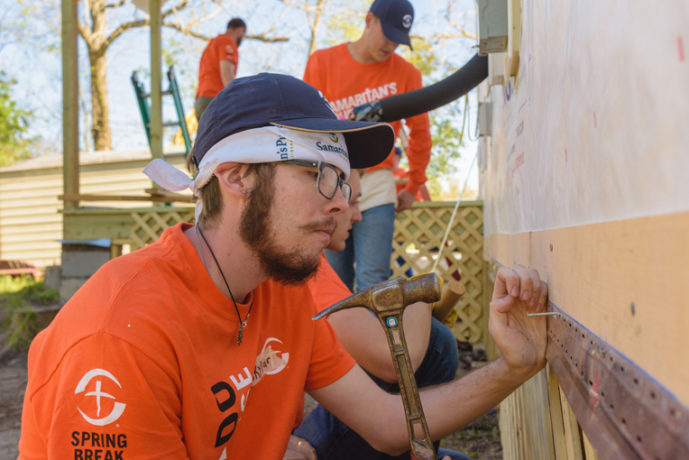 Volunteer teams from College of the  Ozarks and other university groups develop practical skills for life and ministry through our Samaritan's Purse rebuild projects.