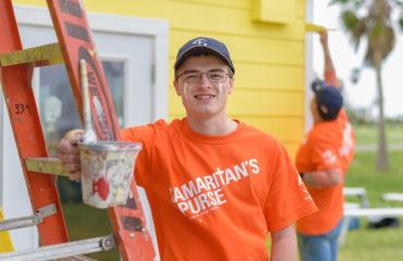 Isaiah Wiese, a freshman at John Brown University in Arkansas, spent his Spring Break alongside other university students rebuilding homes with Samaritan's Purse.