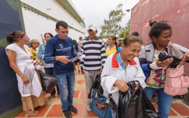 Samaritan's Purse is working to make sure desperate Venezuelans receive food at multiple points in Colombia.