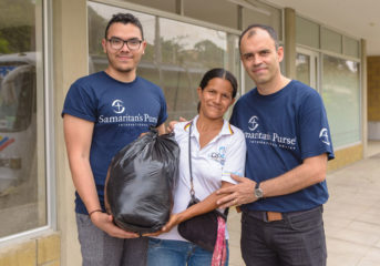 Marielba recently fled Venezuela and is staying with relatives in Colombia. She was glad to receive food from Samaritan's Purse.