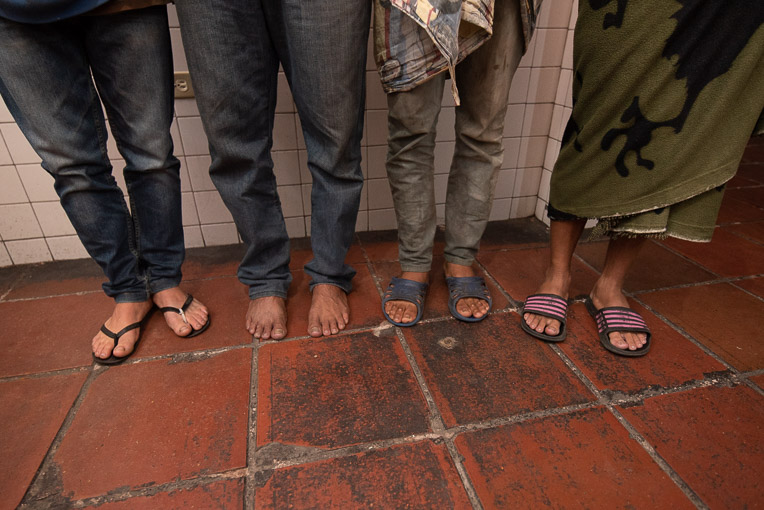 Many Venezuelan migrants are walking miles every day in flip-flops or bare feet.