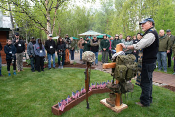 Chaplains, staff, and military couples joined for a special Memorial Day observance at Samaritan Lodge.