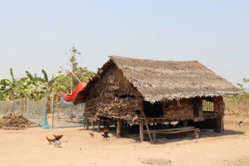 Ko Eh Doh's home in his village in Myanmar.