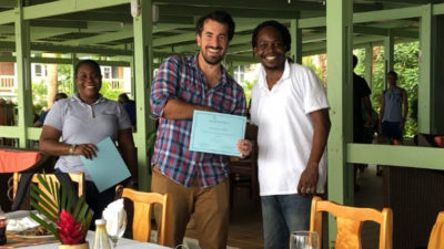 Apprentices who participated in the men's discipleship program receive certificates upon completion of the course.