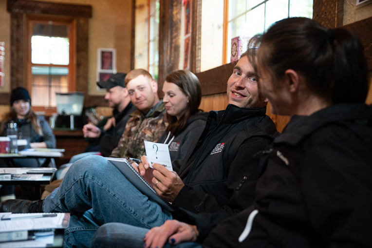 Nina (right) and Derek Coble (second from right) appreciated the marriage classes during their time in Alaska with Operation Heal Our Patriots.