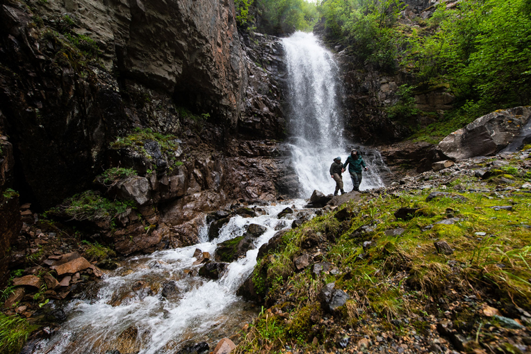 Waterfall hikes give couples a chance to experience the pristine wilderness of Lake Clark National Park and time together to reconnect with each other and with God through His creation.