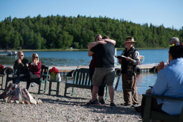 Mike and Cathy Parsons rededicated their marriage before God in Alaska.