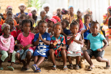 Children in Liberia are hearing the Gospel through Operation Christmas Child outreach events.
