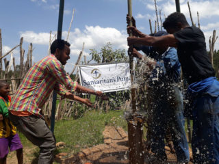 This repaired water pump from Samaritan's Purse is providing clean water to the Korido community.