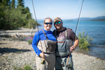 Matt and Jannell connected with each other and with God in the wilderness of Lake Clark National Park.