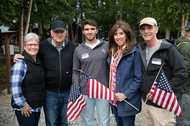 From left to right: Jane and Franklin Graham, Marshall Shults, Tammie Jo and Dean Shults