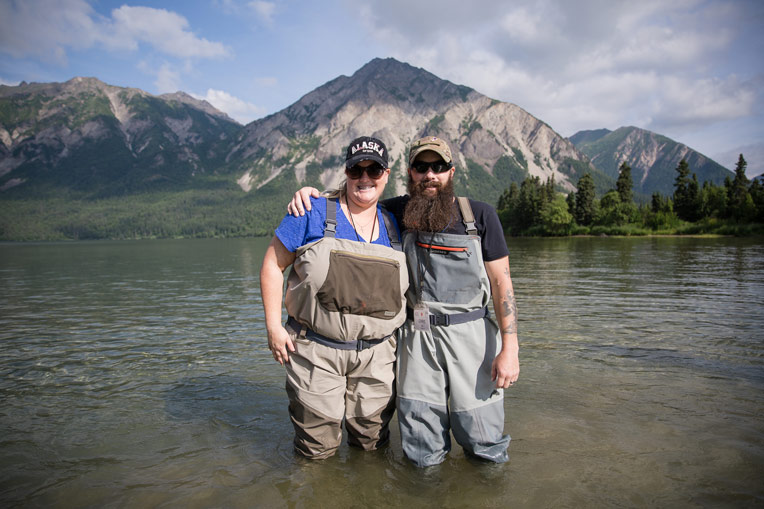 Army Staff Sergeant Chris and Christina Liby were among ten couples who spent July 4 in Alaska through Operation Heal Our Patriots.