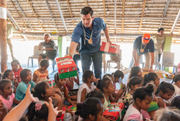 Edward Graham, son of Samaritan's Purse President Franklin Graham, also joined the efforts in reaching the Pacific islands through Operation Christmas Child.