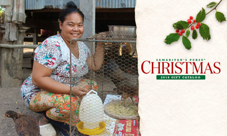 Porleang and other women in Cambodia's Kratie Province are learning how to raise and sell chickens in the local market.
