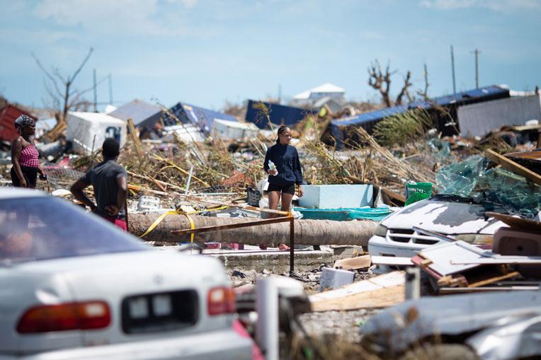 Residents have been left homeless in the wake of Hurricane Dorian's horrific strike.