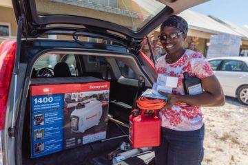 Louisa James received a generator from Samaritan's Purse.