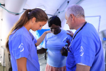 Prayer is a vital part of the ministry of the Emergency Field Hospital.