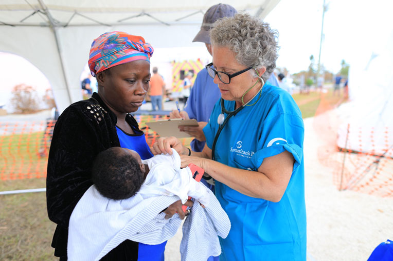 Samaritan's Purse medical staff are treating patients in Freeport, the Bahamas.