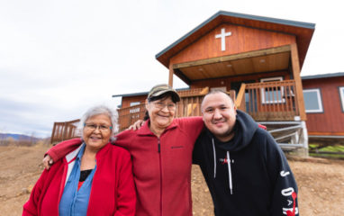 Residents of Ruby, Alaska, are excited about the new church built by Samaritan's Purse volunteers.
