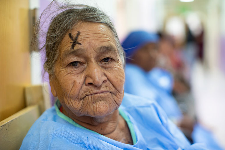 Arcetia was one of 75 patients to have cataracts surgery.