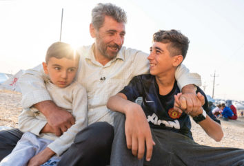 This family is now thankful to be safe in Bardarash camp.