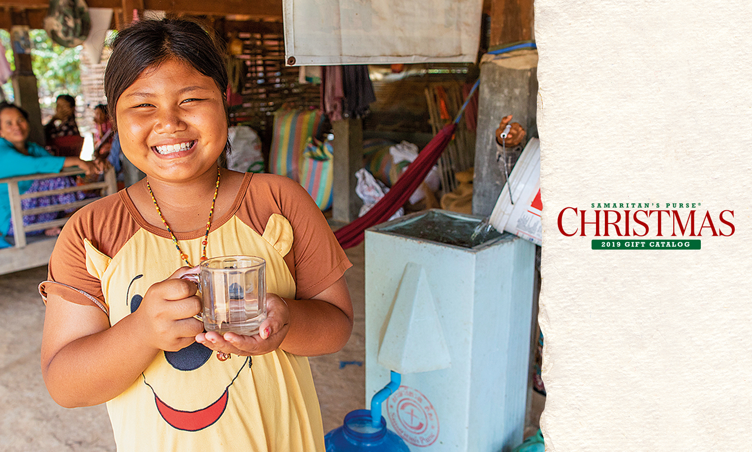Your gift makes it possible for us to give a family a household filter—providing an ongoing source of pure water—and share the Lord's great love with them.