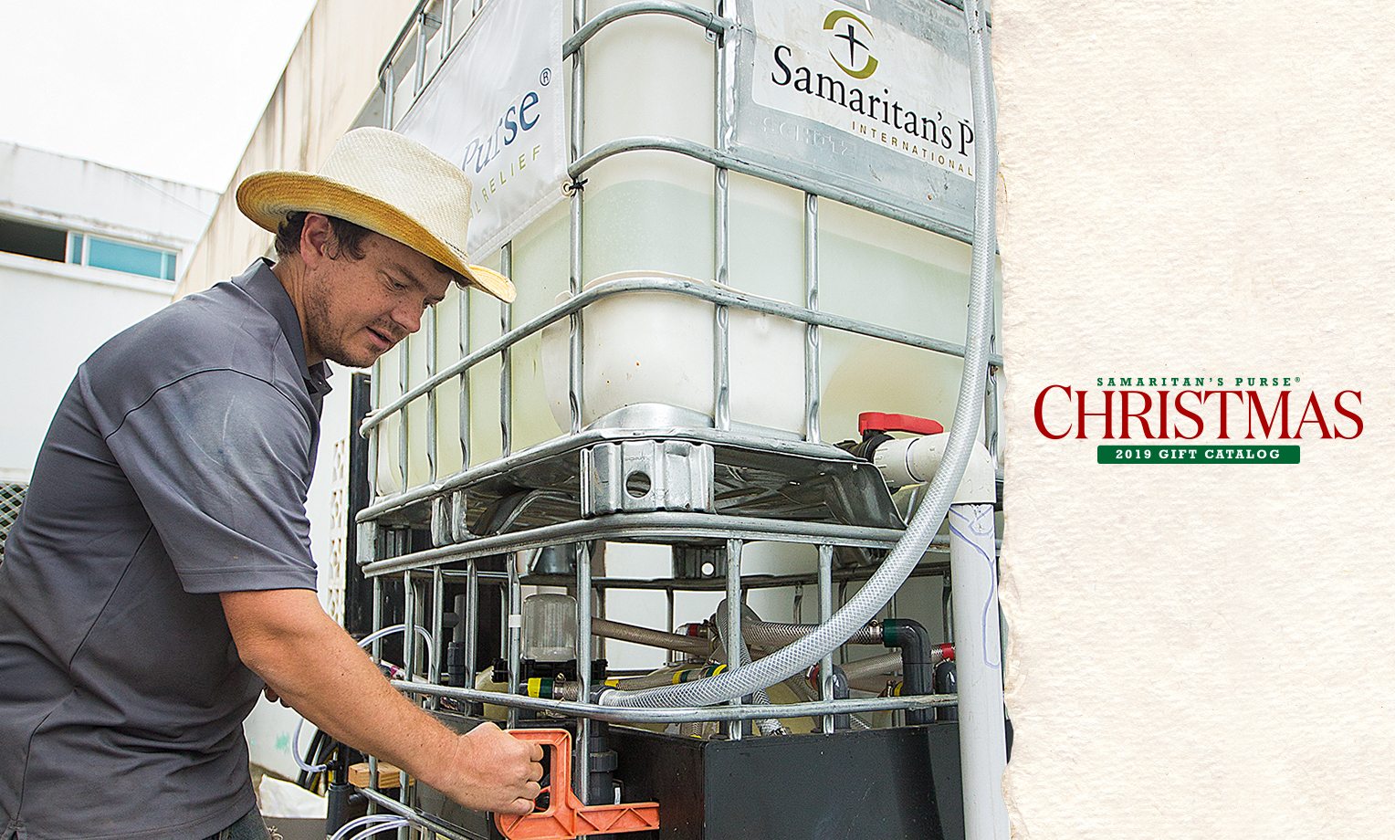 Around the world, Samaritan's Purse is building rainwater collection systems, protecting natural springs, and constructing latrines—all while teaching families about the importance of proper hygiene and sharing the love of Jesus Christ.