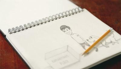 Bryce Pablo drawing Operation Christmas Child
