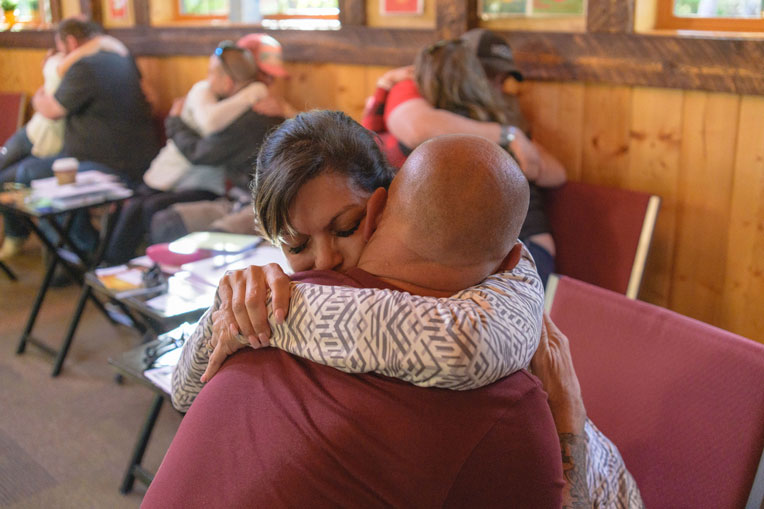 During marriage classes at Samaritan Lodge, couples have opportunities to connect with each other on a deeper emotional level.