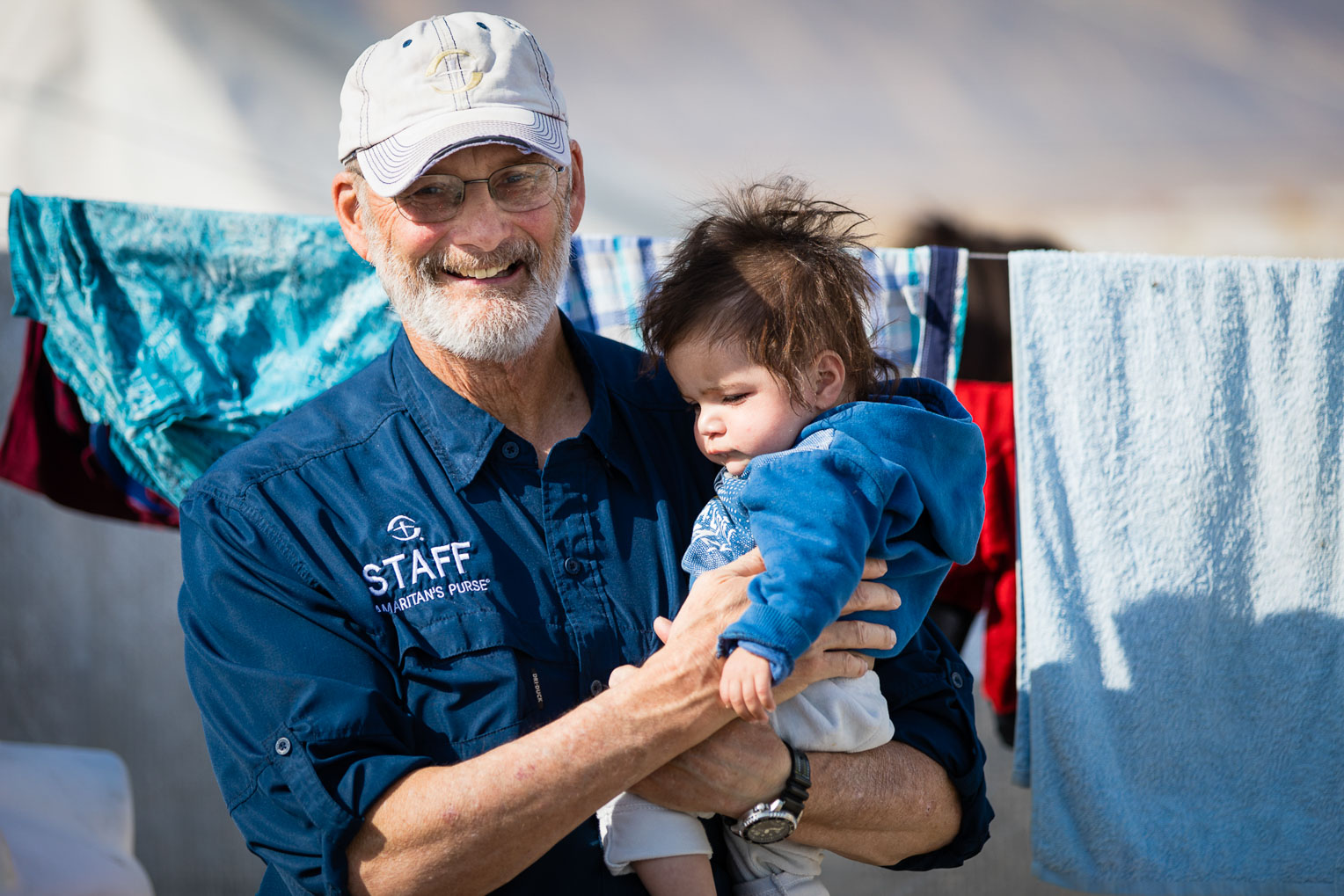 Samaritan's Purse disaster response specialists are caring for refugees in Bardarash camp in Jesus' Name.