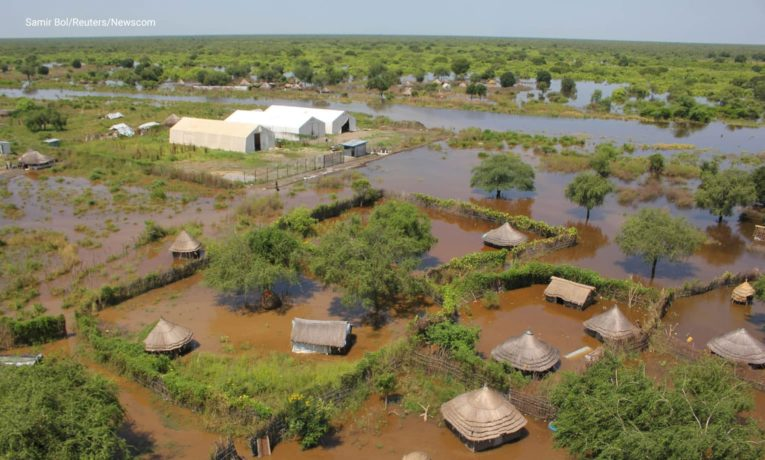 Pibor County in South Sudan is experiencing catastrophic flooding.