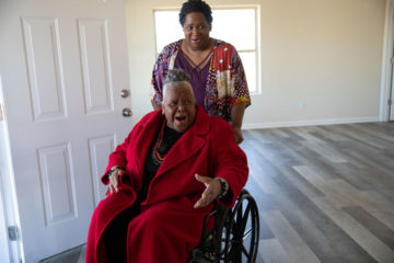 Earnestine takes a tour of her new house for the very first time.