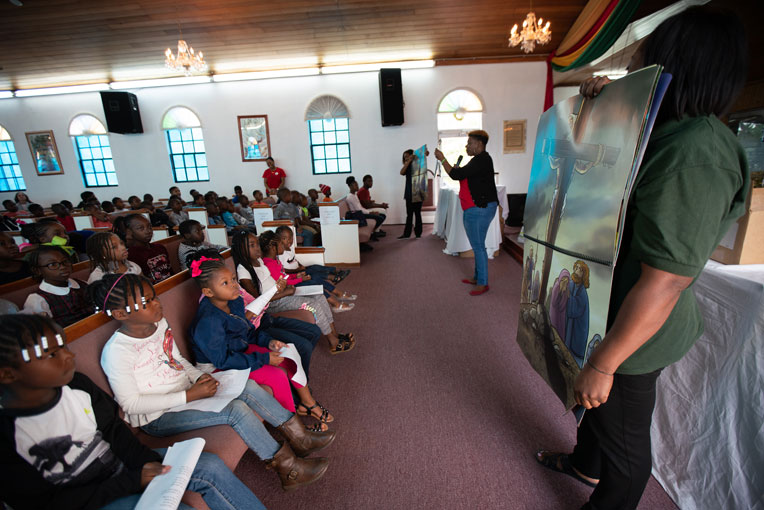 Children in the Bahamas are learning about Jesus Christ through the ministry of Operation Christmas Child.