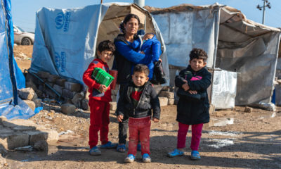 Samaritan's Purse is providing warm boots and socks to refugee families in northern Iraq.