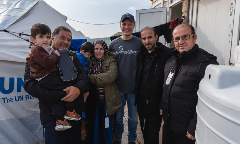 Samaritan's Purse distributed warm winter coats to families in Bardarash refugee camp in northern Iraq.