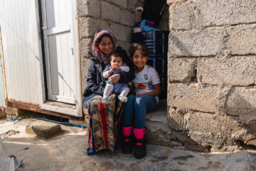 Nebez's daughter-in-law and his granddaughter received a coat and boots from Samaritan's Purse.