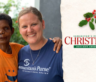 Samaritan's Purse Liberia country director Joni Byker met with cleft-lip patient Secoh Mahn before and after her transformational surgery.