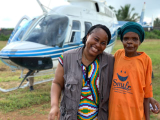 Secoh's friend Jemima joins her as she returns to her village after surgery.