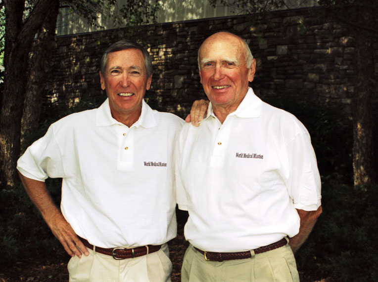 Lowell Furman (1932-2006) and Richard Furman, who remains actively involved with World Medical Mission today.