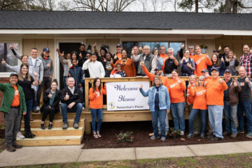Our staff and volunteers join the James family in celebrating as they move back home.