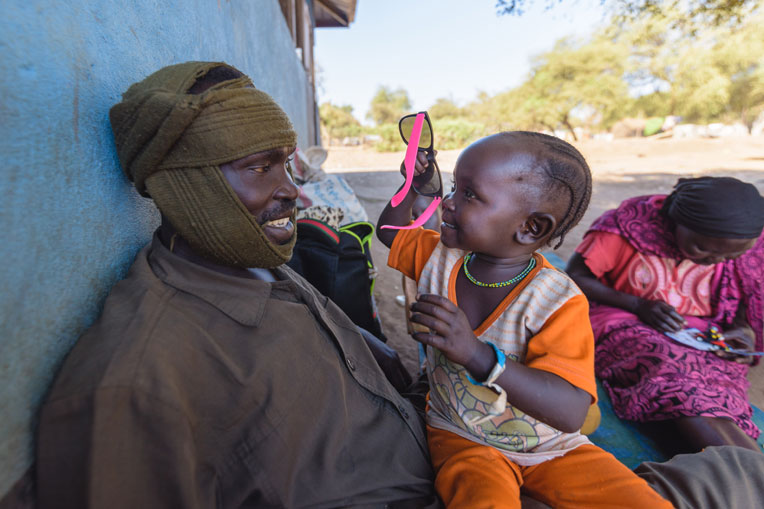 Hawa, age 4, was one of a number of children who had cataract surgery.