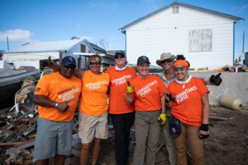 Our U.S. Disaster Relief and Team Patriot volunteers are helping homeowners on Man-O-War.