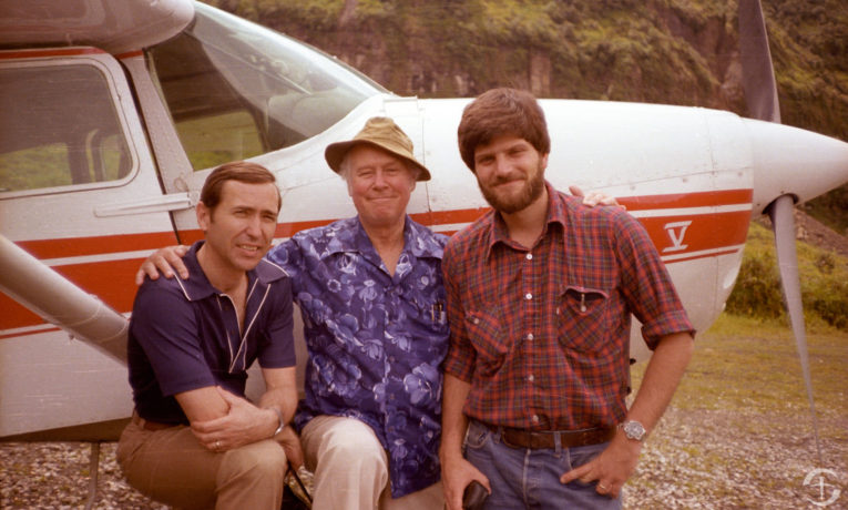 Bob Pierce, Dick Furman, and Franklin Graham in Papua New Guinea.