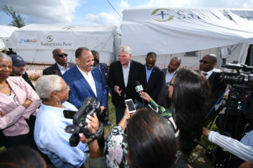 Franklin Graham meets with Bahamas Minister of Health Duane Sands on Jan. 17 in the Bahamas.