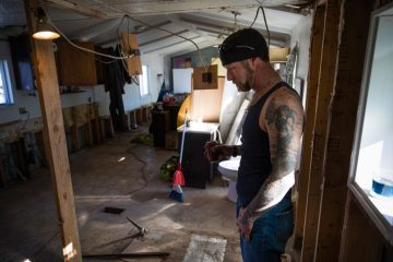 Homeowner Russ Clinkenbeard was home with his 2-year-old son when the floods hit.