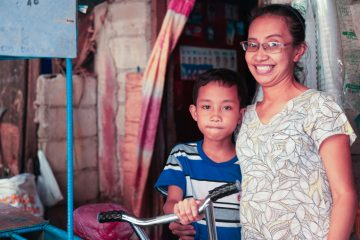 Bernadette is more patient with her children after receiving Jesus Christ as her Savior.
