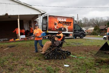 Team Patriot allows Operation Heal Our Patriots participants to serve together after a U.S. disaster.