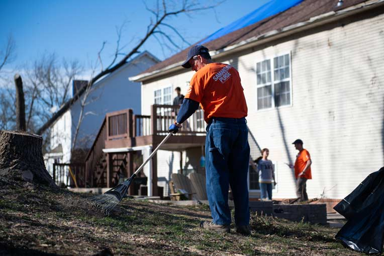 Hundreds of volunteers are working in Middle Tennessee.
