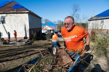 Tornadoes damaged or destroyed hundreds of homes in Tennessee. Now volunteers are helping clean up.